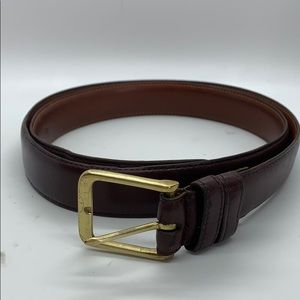 Coach burgundy leather men's belt